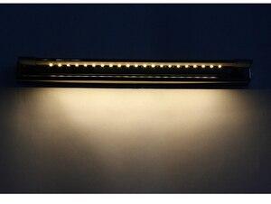 Image 3 - 무료 배송 5W LED 벽 조명 SMD5050 스테인레스 스틸 LED 미러 조명 램프 AC110V/220V 욕실 거울 조명
