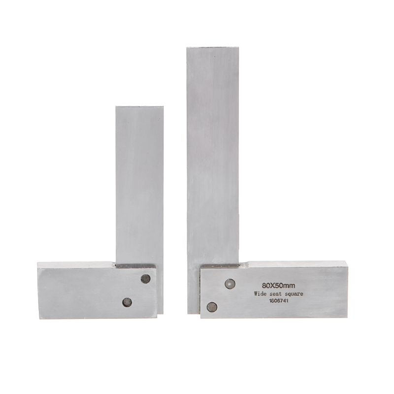 Carbon Steel Angle Ruler Gauge 90 Degrees Wide Base Square Ruler Blade Measuring Tool