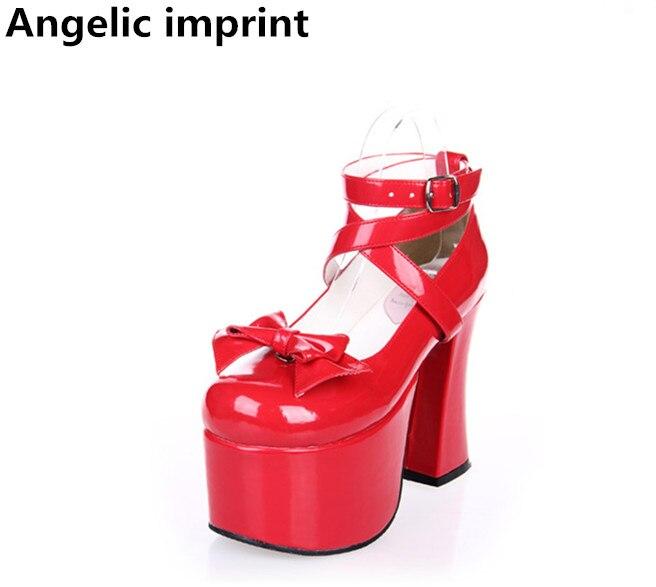 47 Fiesta Super Zapatos 5 Bombas Imprimir Chica Lolita Vestido Mujeres Cm Alto Mori Pl Las 33 Cosplay 12 Señora Tacón Mujer Princesa Red De Angelical C4qHT