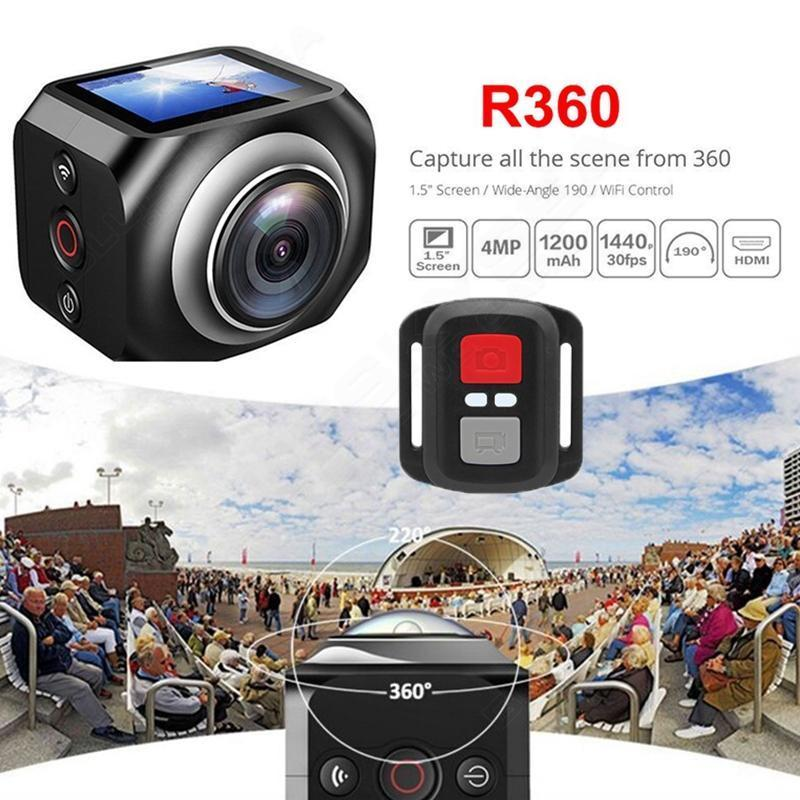 ФОТО 2016 New Winait Original WiFi Remote Control Video 220 Degree Ultra Wide Lens 190 DV H360 R360 VR360 Camera Action Sports Camera