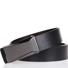 Classic Mens Business Belt First Layer Leather Simple Premium Luxury High Quality Metal Smooth Buckle Casual