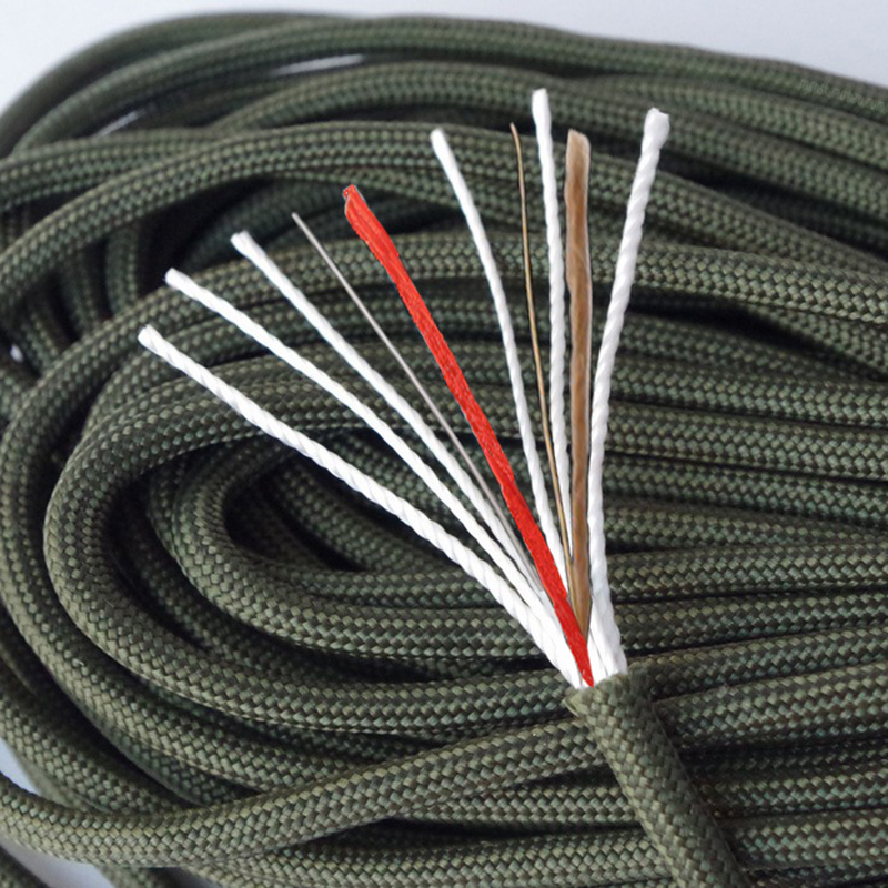 Multifunction Paracord Fire Making Paracord 550 Paracord With Tinder Fishing Line Personal Survival Paracord 100ft