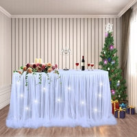 3 Color Handmade Tulle Table Skirt Home Tablecloth Decoration for Party Wedding Home