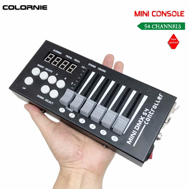 Mini 54CH DMX Controller Console LED Stage Lighting DJ Controller DMX Controladora DJ For Lumiere Moving Head Light