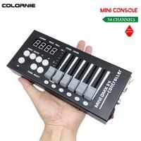Promo Mini consola controlador DMX de 54CH, iluminación LED para escenario, controlador de DJ, controlador DMX para luz Lumiere con cabezal móvil