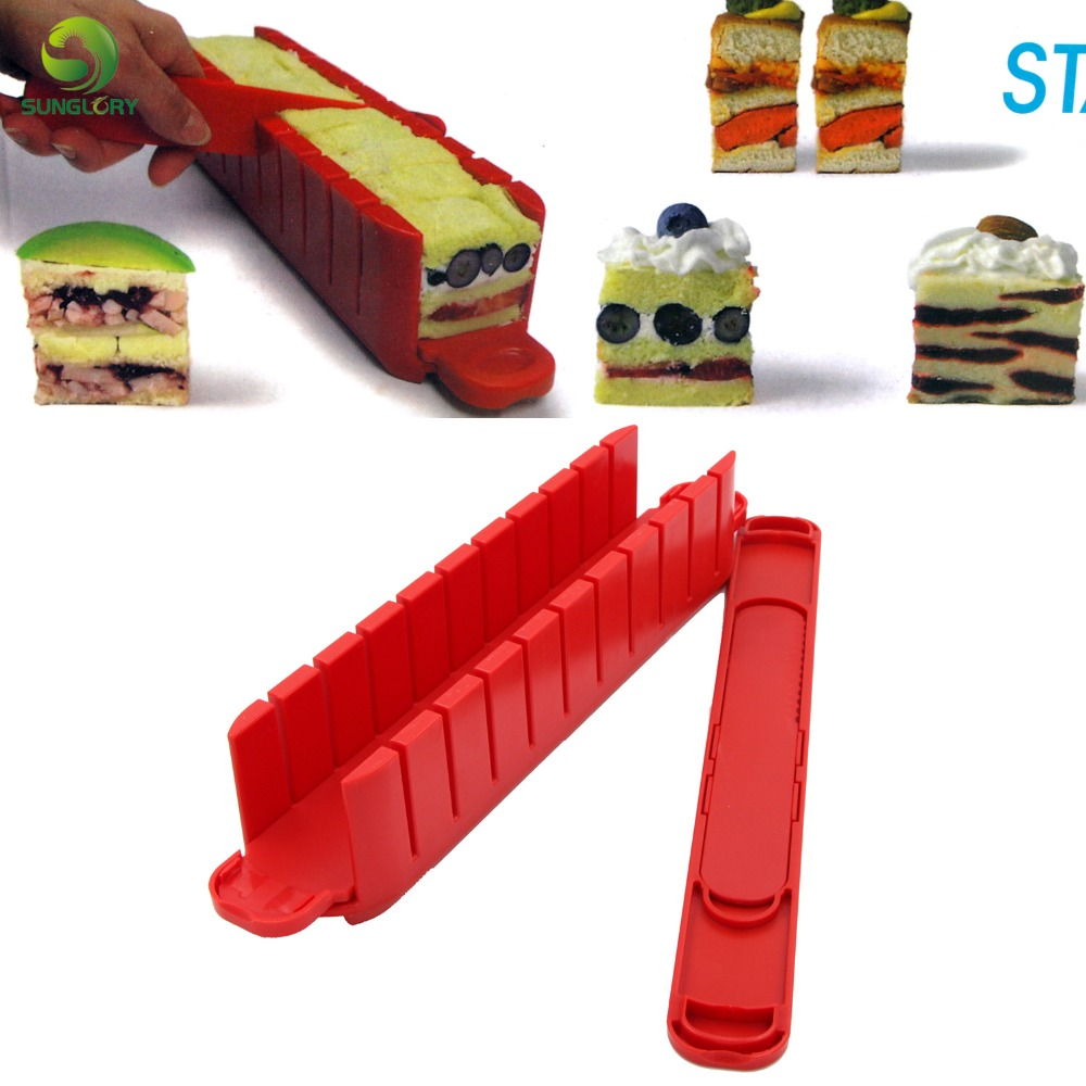 Stackable Appetizer Maker Cake Divider Slicer Cutter To Make 11PCS Cakes In 5 Minutes Fondant