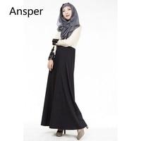 2018 Lace Sleeve Long Dress caftans for Mujer Muslim Women Maxi Dresses Arab Girls Long Garment indonesia islamic tunics