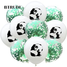 10pcs /lot 12inch Panda Balloon Latex  white black Cute Printed Animal Birthday Party Decoration balloons