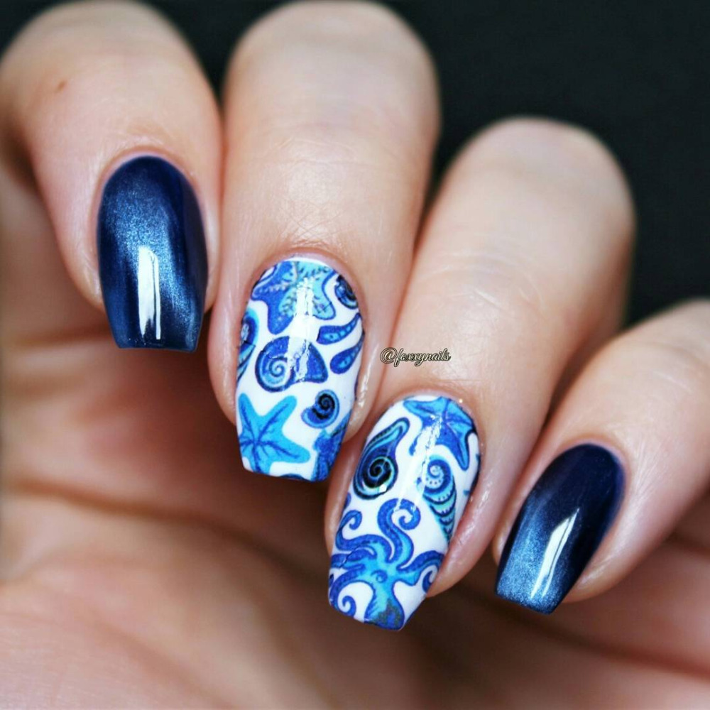 Aliexpress.com : Buy BORN PRETTY 1 Sheet Ocean Fish Nail Art Water Decals 2  Patterns Manicure Transfer Sticker Nail Art Decoration Sticker BPY34 from  ... - Aliexpress.com : Buy BORN PRETTY 1 Sheet Ocean Fish Nail Art Water