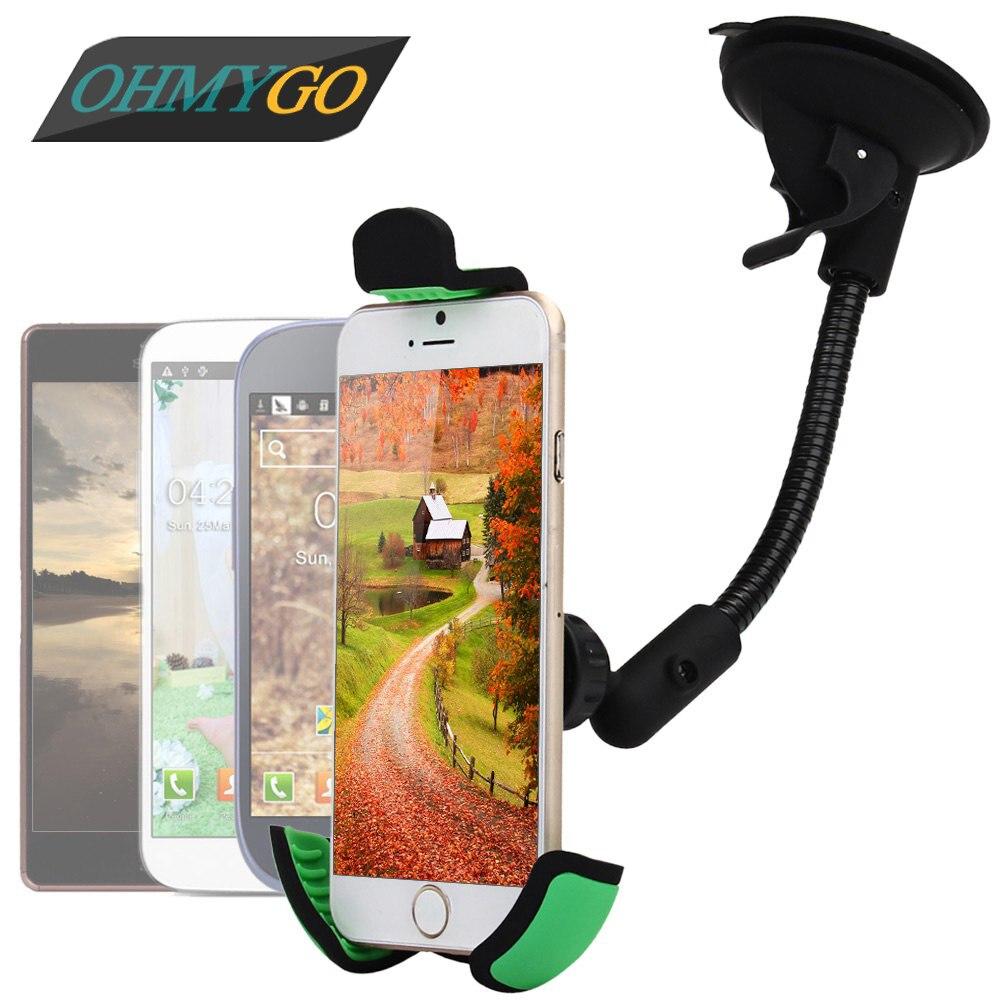 imágenes para Sostenedor del teléfono del montaje soporte con 360 grados de rotación cuna de soporte para el iPhone 6 5 Samsung Xiaomi Lenovo Huawei GPS HC21K