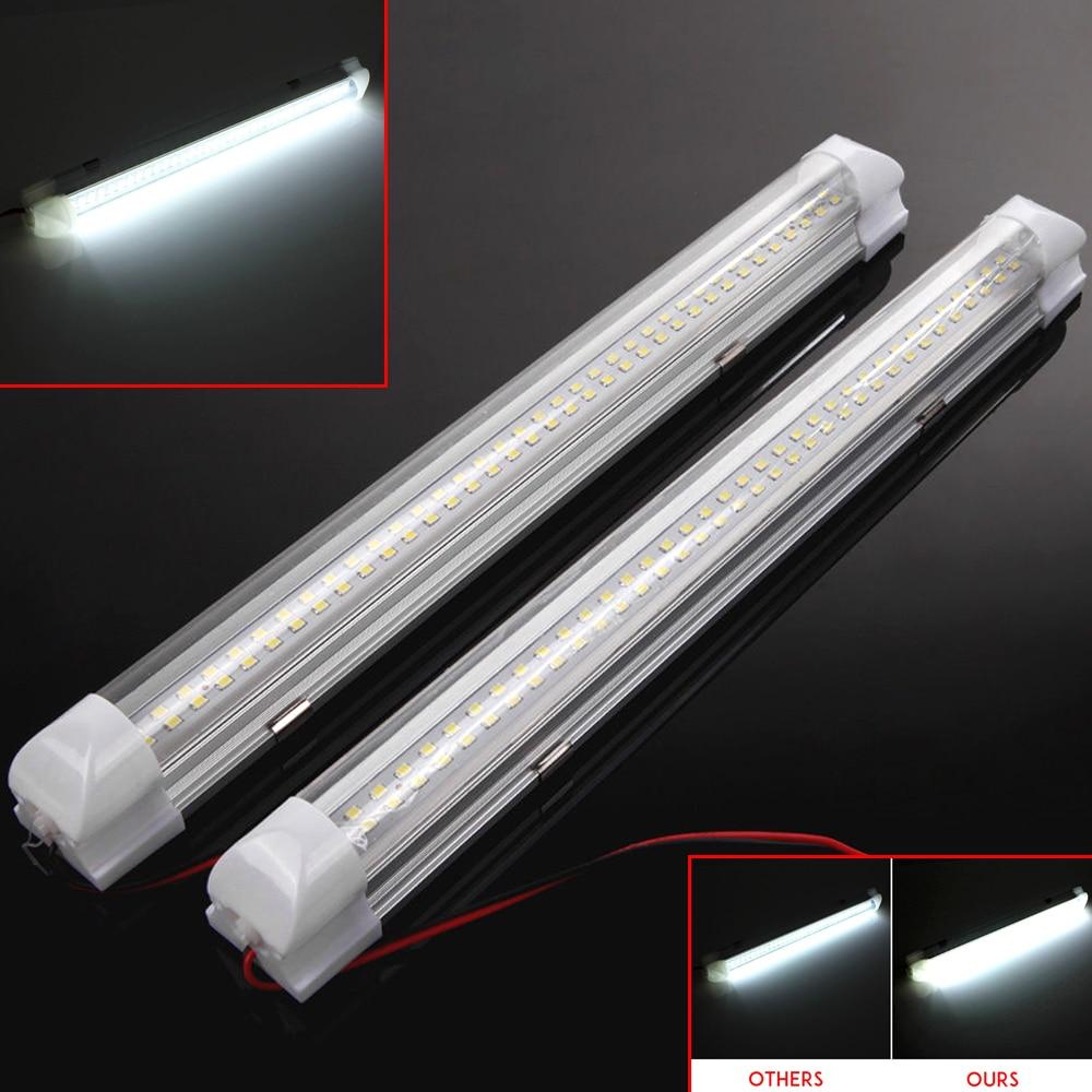 2x 12v 72 led car interior white strip lights bar lamp for - Automotive interior led light strips ...