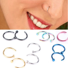 Fake Septum Medical Titanium Nose Ring Body Clip Hoop For Women Septum Piercing Clip Jewelry 1pc(China)