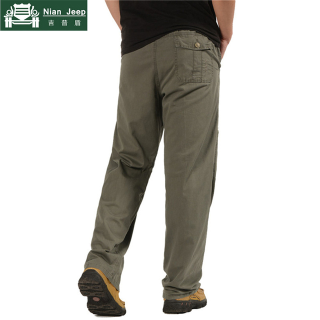 2018 New Men's Cargo Pants Casual Loose Military Tactical Pants Plus Size 5XL 6XL Multi-Pocket Overall Baggy Male Long Trousers 5
