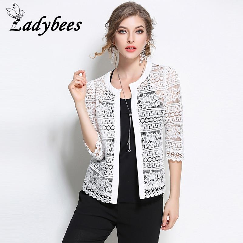 Willstage Frauen-Spitze-Strickjacken L - 5XL plus Größen-Jacke 2018 - Damenbekleidung - Foto 1