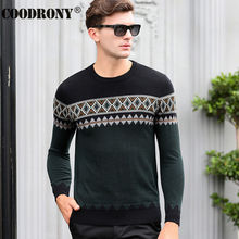 High Quality Winter Warm 100% Pure Cashmere Christmas Sweater Men Real Merino Wool Sweaters Fashion O-Neck Pullover Men Top 6344