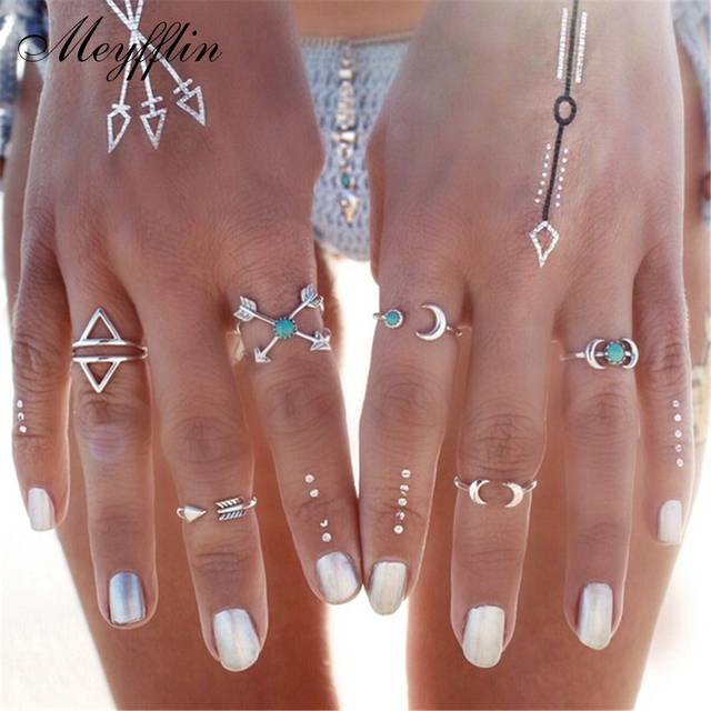 Fashion Ring for women 2017 Anel Vintage Punk Knuckle Anillos Aneis Midi Mid Fin