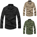 2017 Autumn Brand Shirt Men Outdoor Sport Military Tactical long-sleeved Cargo mountain Camping Climbing Quick Dry waterproof