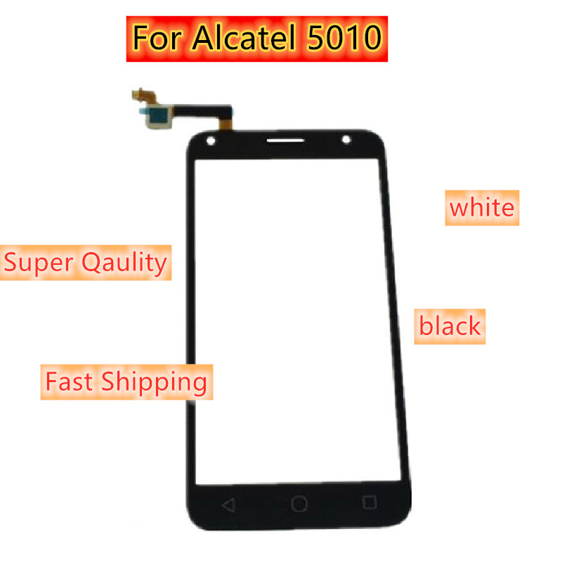 High Qaulity For Alcatel One Touch Pixi 4 5010 5010D 5010E 5010G OT-5010 Touch Screen Digitizer Front Glass Panel Sensor