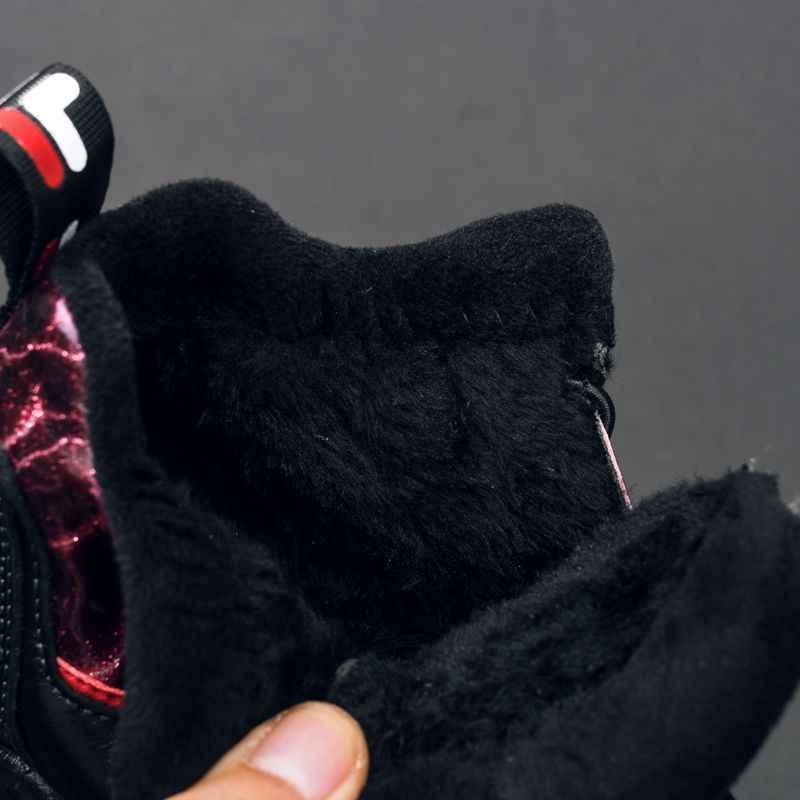 Новинка; зимние детские ботильоны для мальчиков; кроссовки; модные зимние ботинки; детская обувь из натуральной кожи; Плюшевые Теплые повседневные ботинки для студентов