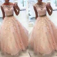 72ac5f294427707 Розовый кружево Бальные платья бальное платье с кристаллами бисером из двух  частей выпускного вечера дебютантка шестнадцать