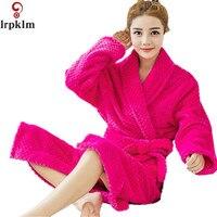 Women S Bathrobes Kimono Robes Winter Flannel Bath Robe Men Long Dressing Gown Man Spa Warm