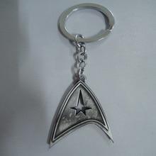 Science Fiction Film Star Trek Duplex Logo Silver Metal Keychain Keyring New Daily Key Chains Unique Key Ring for Women
