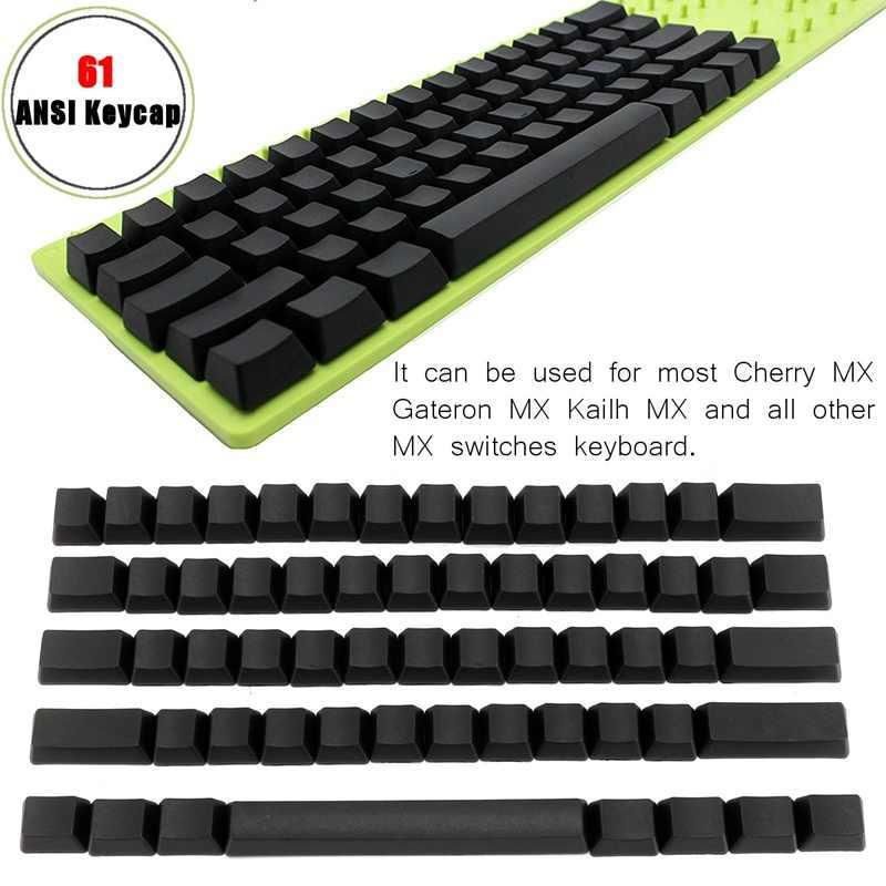 61 Ключ Крышка клавиатуры переключатель пустой профиль толстый PBT ключ крышка s боковой Печатный Топ с Cherry MX для Gateron MX для kailh MX