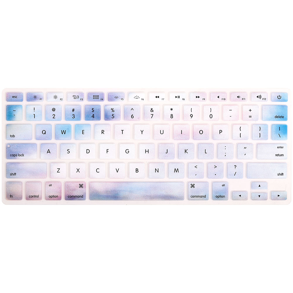 Силикагель крышка клавиатуры мембраны клавиатуры силиконовая форма офисная прочная для Macbook Pro 13/15/17 дюймов Macbook Air/Pro/отбой Тетрадь - Цвет: marble white orchid