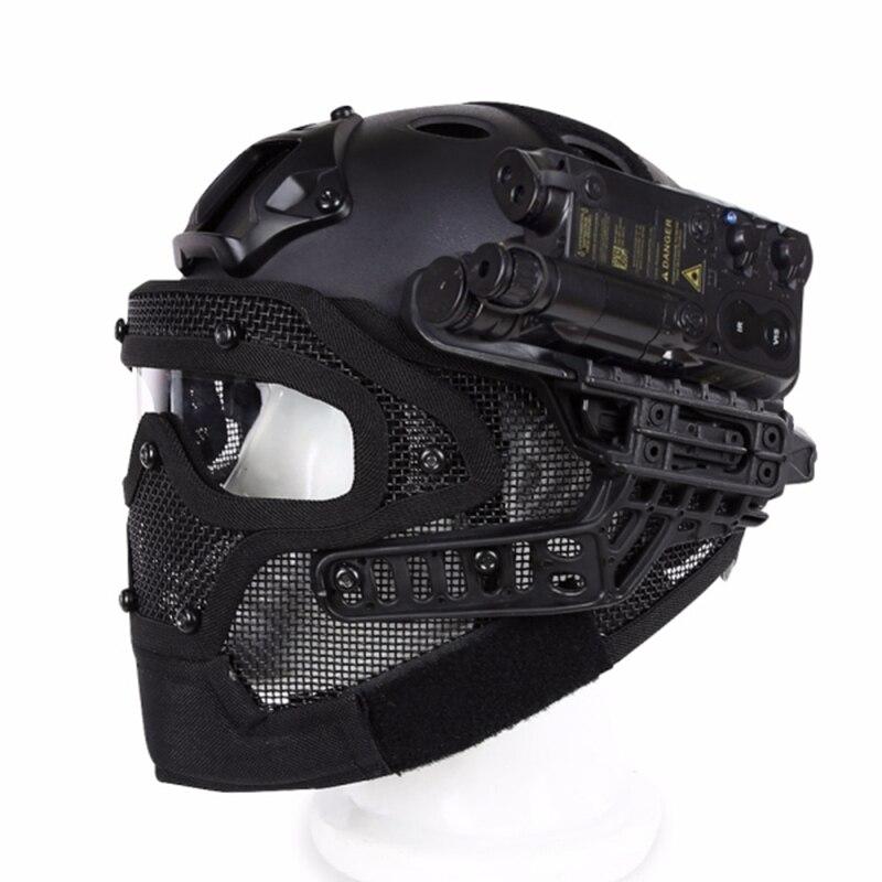Двигатель Полный уход за кожей лица шлем защитный для цикл Тактический военная Униформа Training 4 цвета инженерные материалы