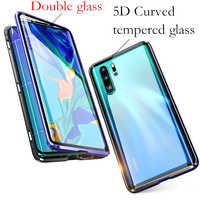 For Huawei P30 lite case 360 Magnetic Adsorption Front+Back double-sided 9H Tempered Glass Case for huawei P30 Pro