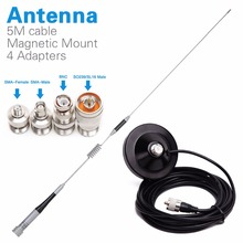 ダイヤモンド SG M507 デュアルバンドアンテナ + 磁気マウント + SMA F/SMA M/BNC/SL16 4 アダプタ baofeng UV 5R トランシーバー携帯ラジオ