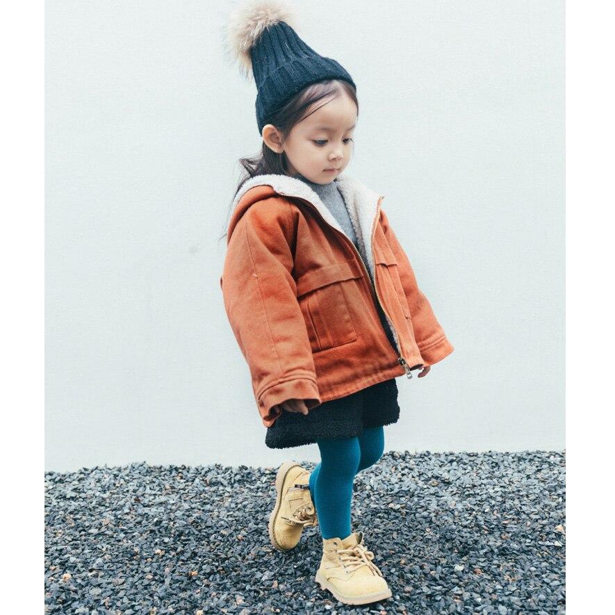 Обувь для девочек зимние куртки для мальчиков Дети Красный бархат с капюшоном одежда с длинным рукавом Детские толстые новые модные теплая ...