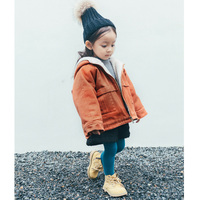 소녀 소년 겨울 코트 아이 벨벳 레드 후드 긴 소매 옷 아기 두꺼운 새로운 패션 따뜻한 코트 어린이 겨울 재킷 1-6