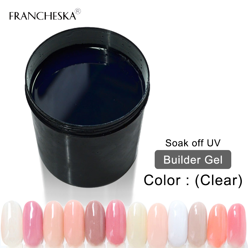UV Gel Builder 1KG Builder gel jellyFinger Nail Extension builder snel transparant clear roze wit camouflage oje nail art - 2
