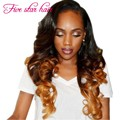High grade lace front Human hair wigs 180 density natural hairline #1b/#6 Ombre Brazilian full lace wigs for black women