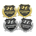 car styling auto decal two color for hyundai solaris ix35 accent i30 tucson elantra metal Badge sticker modified standard column