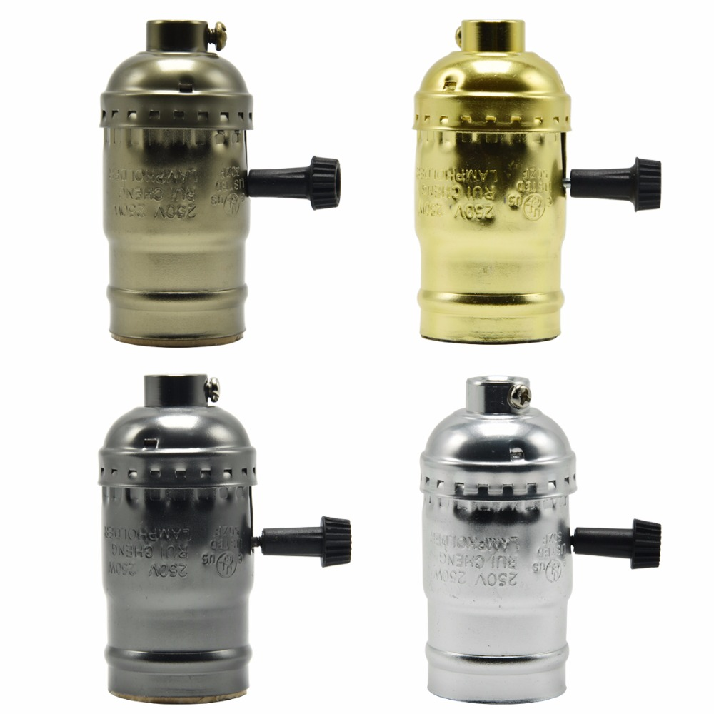 E27-Vintage-Light-Socket-with-Knob-Switch-Edison-Bulb-Lamp-Holder-Retro-Aluminium-Pendant-Screw-Lamp