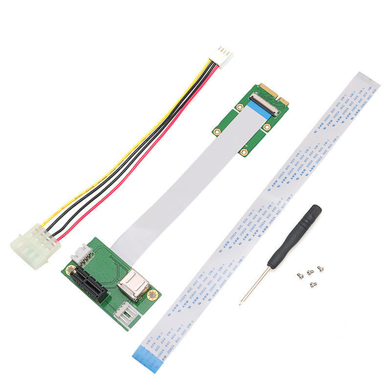 Mini USB PCI-E to PCI-E Mini 1X Extension Cord Adapter Card with USB Riser Card