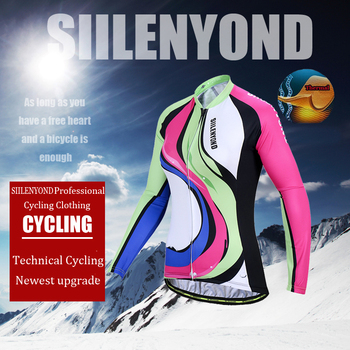 Siilenyond 2019 Pro Winter Thermal Fleece Cycling Jersey Keep Warm Racing Bike Cycling Clothing MTB Bicycle Cycling Clothes 2