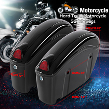 2Pcs 26L Waterproof Motorcycle Bag Luggage Hard Trunk Saddlebags Sade Case for Motorbike Tool ABS Hard