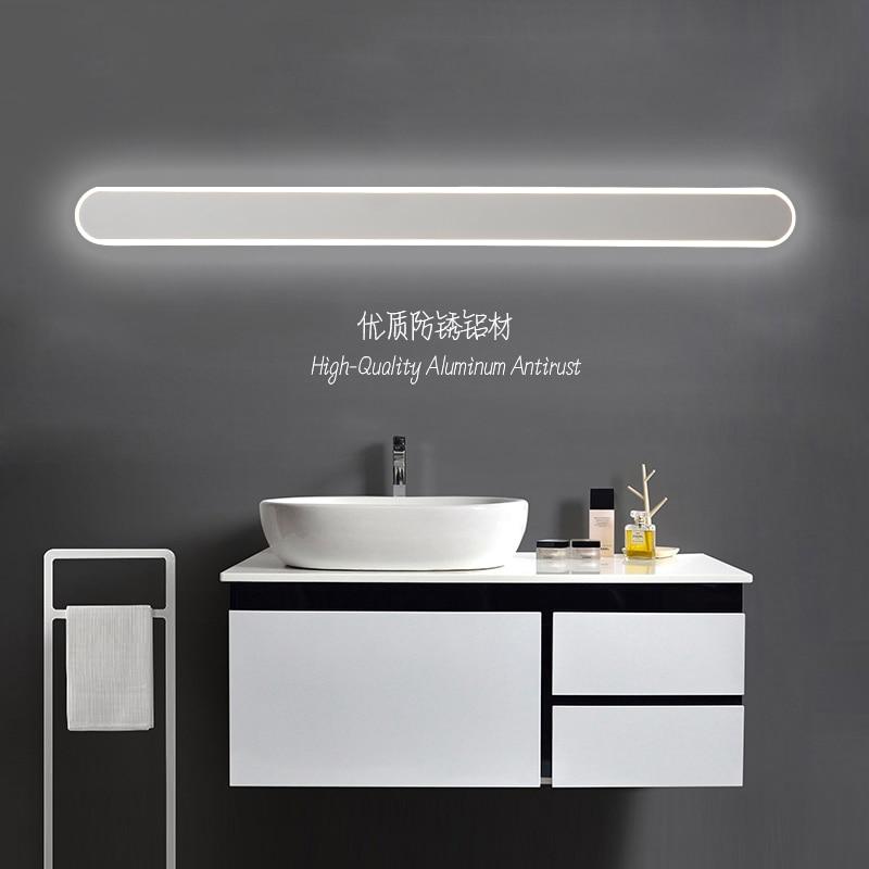 Modern black/ bathroom led mirror lights 0.4M~1.2M wall lamp bedroom stair light led wall lights applique murale luminaire