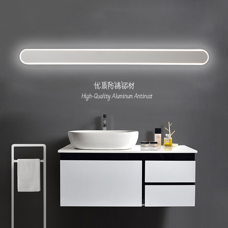 Modern black/ bathroom led mirror lights 0.4M~1.2M wall lamp bedroom stair light led wall lights applique murale luminaire
