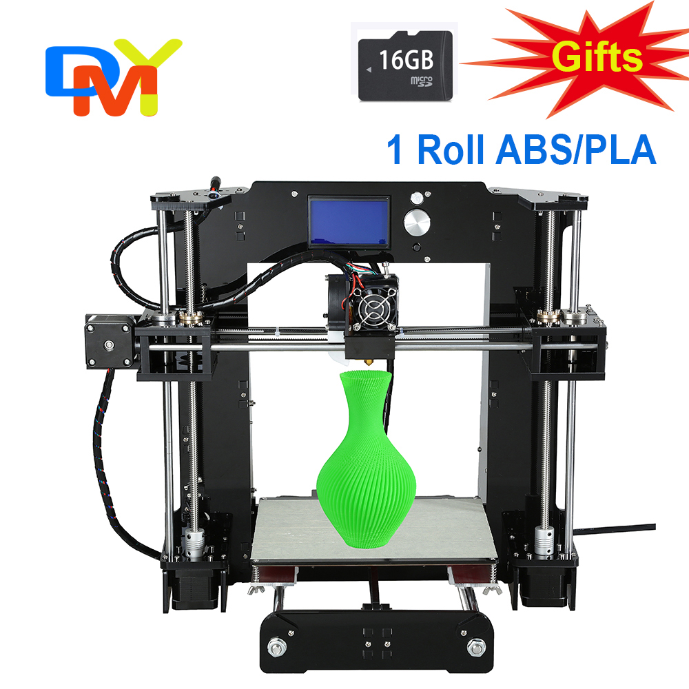 2015 Upgraded Quality High Precision Reprap Prusa i3 DIY 3d Printer kit with 1 Rolls Filament 16GB SD card and LCD for free