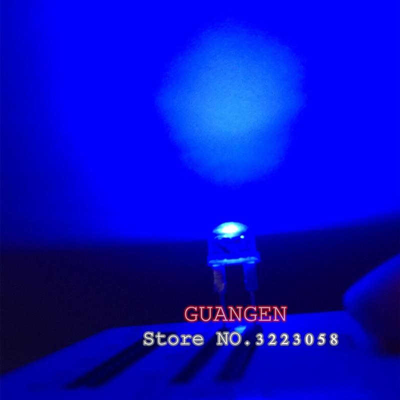 50PCS/LOT 8MM F8 white LED lamp bead straw hat 20mA 3V DC super bright power 0.5W LED light emitting diode (leds) for DIY lights