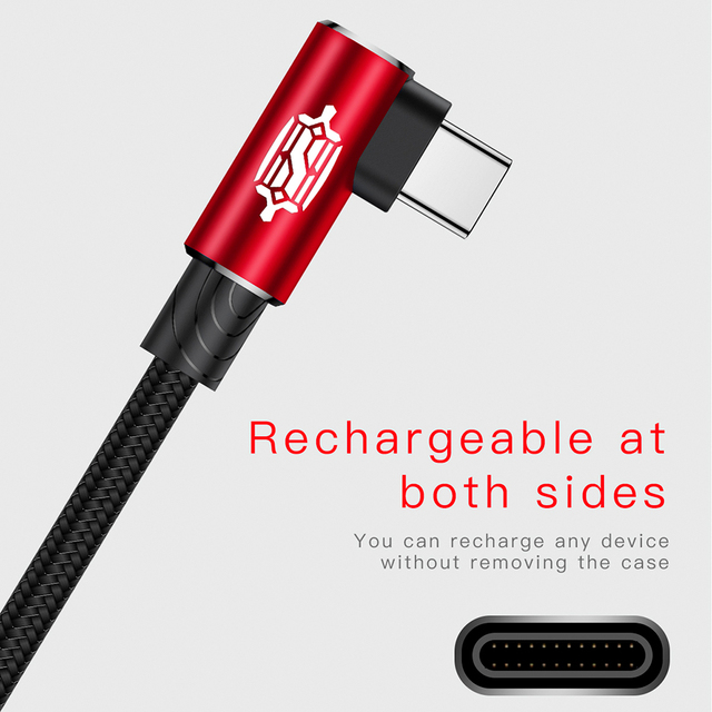 Baseus USB Type-C Fast Charging Cable For Samsung Note 8 S8 Xiaomi Mi A1