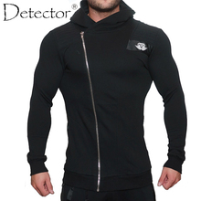 Détecteur Hommes En Plein Air À Capuche Vestes de Course Sweat Zipper Slim Fit Pull Hoodies Gymnase de Sport