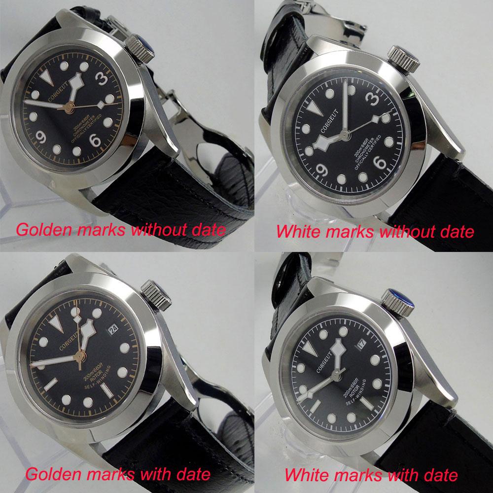 купить Corgeut watch 41mm dive watch sapphire glass black dial luminous deployant clasp MIYOTA 8215 Automatic movement wrist watch men по цене 6682.79 рублей
