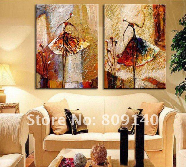 Aliexpress Com Buy Painting Dancer Ballet Dancing Abstract Oil Painting On Canvas Free Shipping High Quality Hand Painted Home Decor Wall Art From