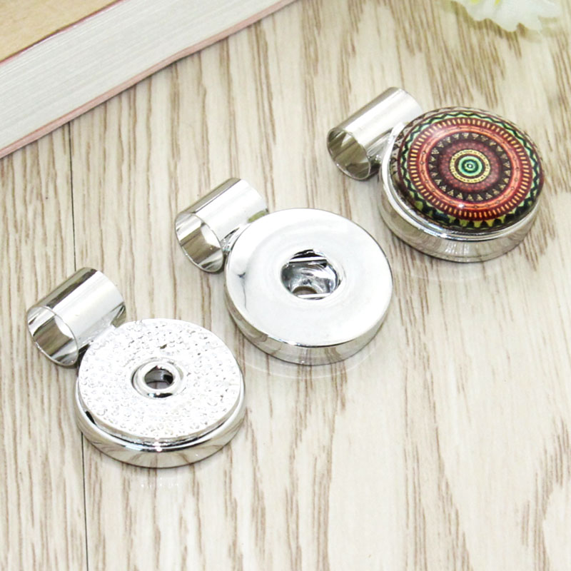 10 Pcs Charms Snap Button Base Accessories For 18mm DIY Snap Jewelry