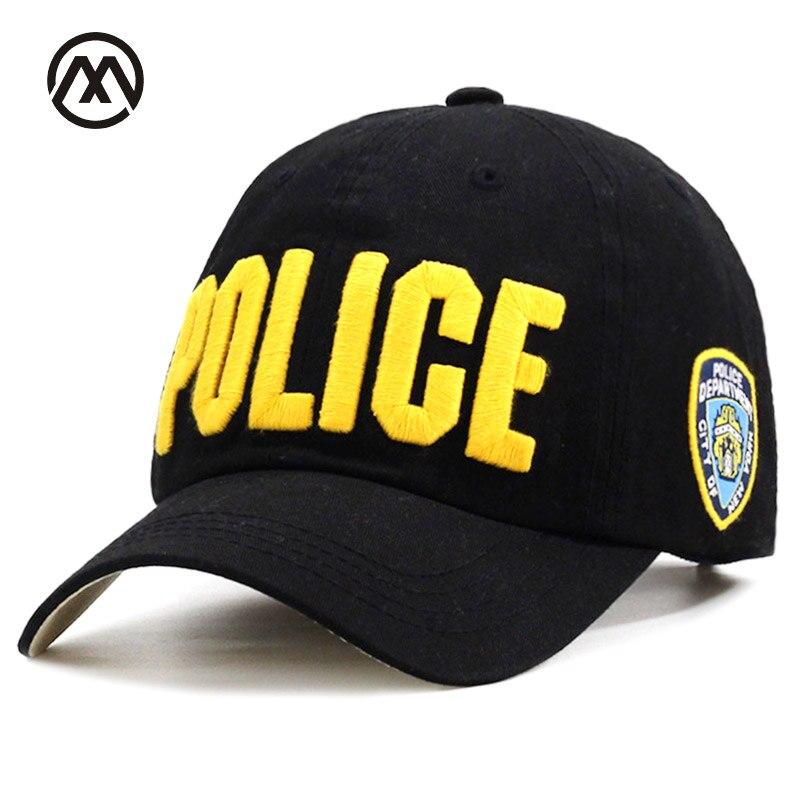Cheap Wholesale High Quality Police Embrace Hat Unisex Hat   Baseball     Cap   Men Women New York Adult Adjustable Cotton Outdoor bone